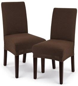4Home Comfort Multielasztikus székhuzat barna, 40 - 50 cm,  2 db-os szett