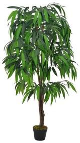 vidaXL zöld, cserepes műmangófa 140 cm