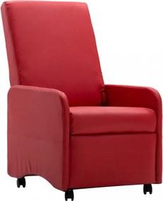 Piros dönthető műbőr fotel