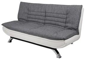 Ízléses ágyazható kanapé Alun 196 cm - világos szürke / fehér