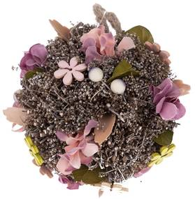 Leerdam függeszthető gömb művirágokkal, Átmérő: 14 cm
