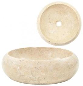 Krémszínű márvány mosdókagyló 40 x 12 cm