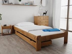 Magnat ADA ágy 120 x 200 cm, tölgyfa Ágyrács: Ágyrács nélkül, Matrac: Somnia 17 cm matraccal
