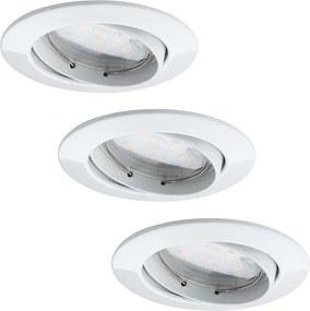 Paulmann Paulmann 92765 - KÉSZLET 3x LED Beépíthető lámpa COIN 3xLED/6,8W/230V fehér W0562