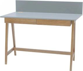 Luka Oak szürke íróasztal kőrisfa lábakkal, hossz 110 cm - Ragaba