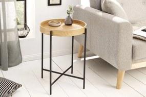 Stílusos oldalsó asztal Factor 43 cm tölgy