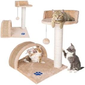 Macskamászóka, kaparóoszlop, bézs