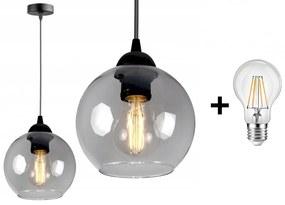 Glimex Orb állítható függőlámpa füst 1x E27 + ajándék LED izzó