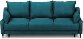 Ancolie türkiz kihúzható kanapé ágyneműtartóval, 215 cm - Mazzini Sofas
