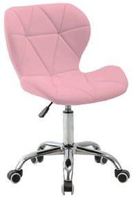 Irodai fotel, rózsaszín/króm, ARGUS