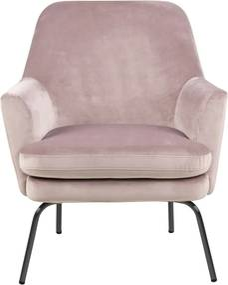 Ízléses fotel Ninette - világos rózsaszín