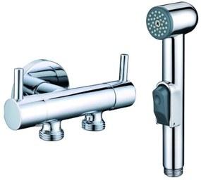 SAPHO bidé zuhany osztott sarokszeleppel,króm1209-04