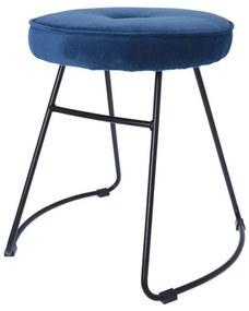 Kerek modern szék, királykék - BRISTOL
