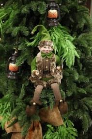 Zöld karácsonyi erdei manó 40cm