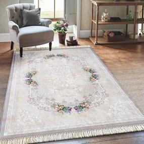Elegáns bézs szőnyeg rojtokkal Szélesség: 80 cm   Hossz: 150 cm