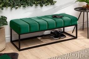 Stílusos ülőpad Halle 108 cm bársony - smaragdzöld