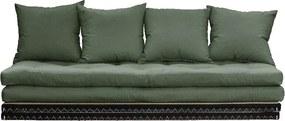 Chico Olive Green kinyitható kanapé - Karup Design