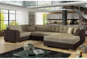 DARINA U ágyazható ülőgarnitúra 340x73x190, berlin 03/soft 66, jobbos