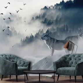 Fotótapéta - Madarak a ködben (254x184 cm)