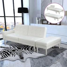 vidaXL fehér műbőr kanapéágy