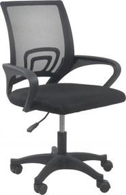 Forgó irodai szék, MORIS, szövet, fekete színben