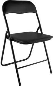 Malatec Összecsukható szék, fekete, 7890