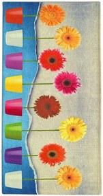 Flower Power futószőnyeg, 60 x 190 cm - Floorita