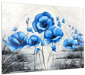 Kék pipacsok képe (70x50 cm)