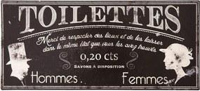 Toilettes fém WC tábla - Antic Line