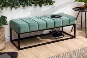 Stílusos ülőpad Halle 108 cm bársony - mentol zöld