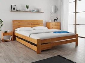 Magnat PARIS magasított ágy 120 x 200 cm, égerfa Ágyrács: Ágyrács nélkül, Matrac: Coco Maxi 23 cm matraccal