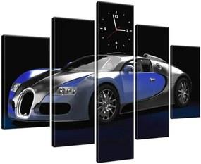 Órás falikép Kék Bugatti Veyron 150x105cm ZP2378A_5H