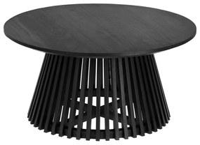 Irune fekete teakfa dohányzóasztal, ⌀ 80 cm - La Forma