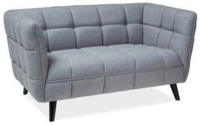 UMBRIE 2 kárpitozott kanapé, 142x78x85, szürke