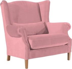 Harvey Velvet rózsaszín füles bársonyfotel - Max Winzer