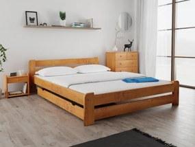 Laura ágy 140x200 cm, égerfa Ágyrács: Deszkás ágyráccsal, Matrac: Deluxe 15 cm matraccal