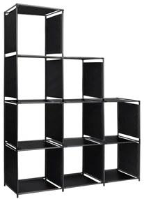 vidaXL szövet lépcsős díszpolc 130 x 45 x 170 cm