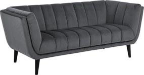 Design ülőgarnitúra Raquel 184 cm sötétszürke