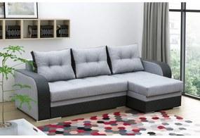 BONDi ágyazható sarok ülőgarnitúra, 236x90x140, malmo 90/cayenne 1114/60