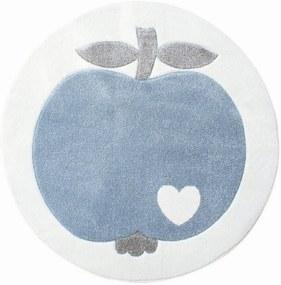 Almás gyerekszõnyeg – fehér/kék kerek