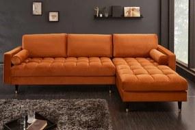 Sarok kanapé Cozy Velvet 260cm narancs