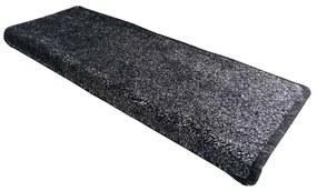Apollo soft lépcsőszőnyeg, szürke, 24 x 80 cm, 24 x 80 cm