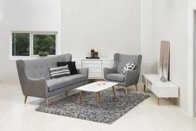 Luxus kanapé Noah - világos szürke