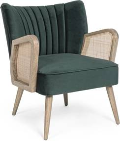 VIRNA zöld bársony fotel
