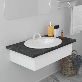 Fehér kerámia beépíthető mosdókagyló 51 x 45,5 x 19,5 cm