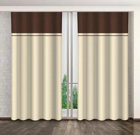 Krémes dekoratív függönyök a hálószobához Hossz: 250 cm