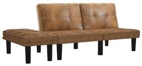 vidaXL kétszemélyes barna művelúr kanapé