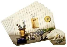 Banquet Levendula alátétek, 6 db 43 x 28 cm, 6 db 10 x 10 cm