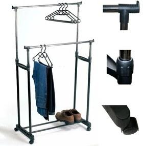 ISO, dupla ruhaszekrény 4 kerékkel és 2 rudakkal - állítható, 398