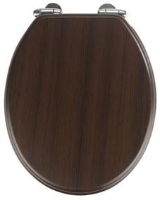 Wenge sötét WC-ülőke, 43 x 37 cm - Wenko